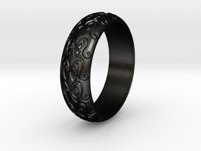 Sharon F. - Ring in Matte Black Steel: 6 / 51.5