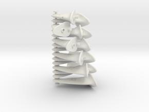 F2D control horn 21-35mm - 2nd Gen in White Natural Versatile Plastic