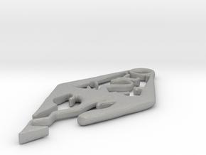 Skyrim Pendant in Aluminum
