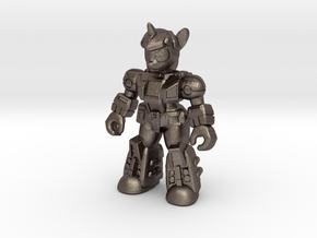 Scholarly Sparkle (Full Color) Battle Beast in Polished Bronzed Silver Steel