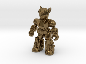 Scholarly Sparkle (Full Color) Battle Beast in Polished Bronze