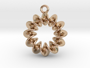Helical Earring 1 in 14k Rose Gold Plated Brass