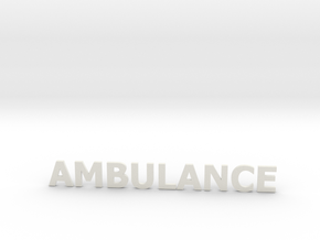 Ambulance letters zonder steun 86 mm in White Natural Versatile Plastic