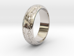 Ray F. - Ring in Rhodium Plated Brass: 3.5 / 45.25