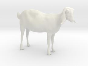 3D Scanned Nubian Goat 3cm in White Natural Versatile Plastic