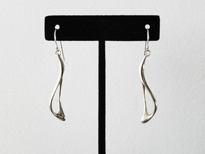 Flow Earrings in Polished Silver