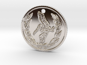 Resident evil 7 biohazard coin necklace  in Rhodium Plated Brass
