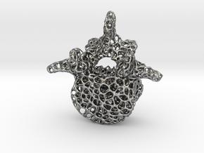 Voronoi Spine L4 bone in Natural Silver