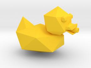 Gunducky in Yellow Processed Versatile Plastic