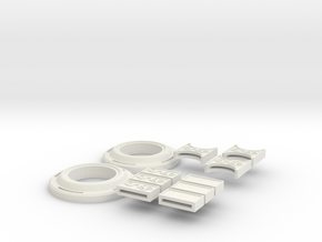 Doctor Strange Belt Pieces in White Natural Versatile Plastic