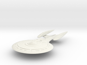 Folorida Class VII B Refit  BattleCruiser in White Natural Versatile Plastic
