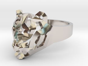 Star Tiger Ring in Rhodium Plated Brass: 7 / 54