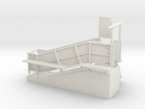 1/64 Cattle Loading Chute in White Natural Versatile Plastic