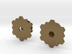 James Webb Space Telescope Cuff Links in Natural Bronze