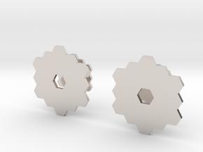 James Webb Space Telescope Cuff Links in Platinum