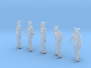 1-20 Royal Navy Sailors Set1-1 in Smooth Fine Detail Plastic