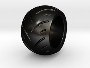 Max Power - Racing Tire Ring in Matte Black Steel: 6 / 51.5