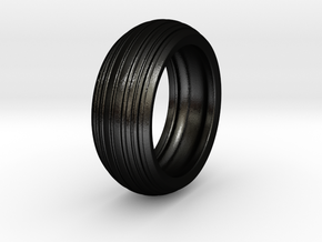 Speedy - Tire Ring in Matte Black Steel: 6 / 51.5
