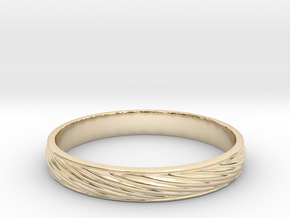 SculptedTwisted Ring in 14K Yellow Gold