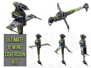 Ultimate B-wing conversion kit in Frosted Extreme Detail