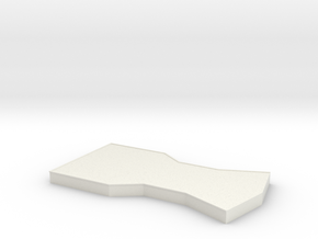 Bridge - Center Platform 72 in White Natural Versatile Plastic