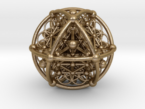 UNIVERSO Flower Genesa in Polished Gold Steel