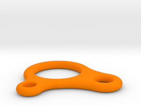 Sliding Hitch line adjuster in Orange Processed Versatile Plastic