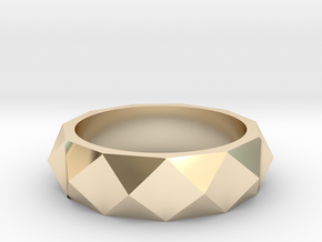 studded ring in 14k Gold Plated Brass
