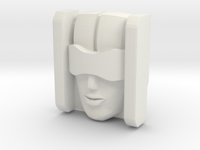 Jennifer-1 Face (Titans Return) in White Natural Versatile Plastic