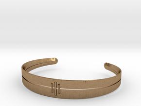 Stitch Bracelet in Natural Brass: Small