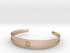 Stitch Bracelet in 14k Rose Gold Plated Brass: Small
