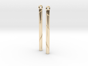 Ribbon Earrings in 14K Yellow Gold