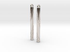 Bubbles Earrings in Platinum