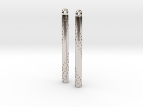 Bubbles Earrings in Rhodium Plated Brass