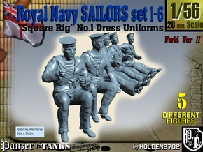 1-56 Royal Navy Sailors Set1-6 in Frosted Ultra Detail