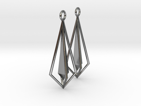 Geometric chic earrings in Polished Silver