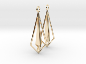Geometric chic earrings in 14K Yellow Gold