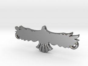 Swooping Hawk™ Charm in Polished Silver