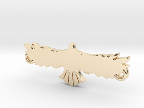 Swooping Hawk™ Charm in 14k Gold Plated Brass