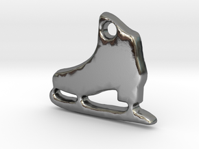 Skater's Delight™ Charm in Polished Silver