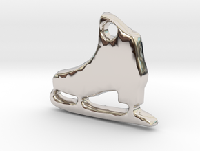 Skater's Delight™ Charm in Rhodium Plated Brass