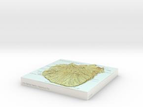 Little Barrier / Hauturu-o-Toi - 15cm / 1:50k in Glossy Full Color Sandstone