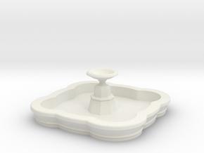 Medium N/OO Scale Fountain in White Natural Versatile Plastic: 1:76 - OO