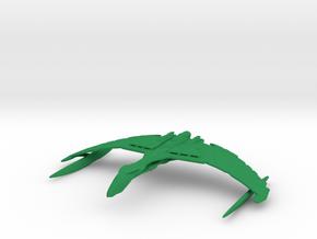 Romulan Valdore Type Warbird 1/7000 in Green Strong & Flexible Polished