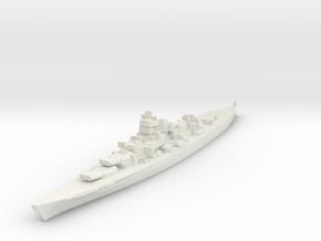 KMS Scharnhorst battlecruiser / Gneisenau class in White Natural Versatile Plastic