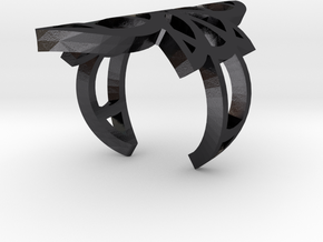 Witch Rings: Maret in Polished Grey Steel