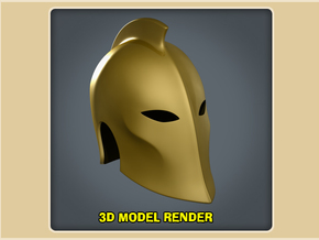 1:9 Scale Dr. Fate Helmet Prop in White Strong & Flexible Polished