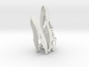 1:2 Utahraptor skull in White Natural Versatile Plastic