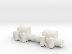 Winch 2 Pack 1-87 HO Scale in White Natural Versatile Plastic