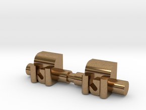 Winch 2 Pack 1-87 HO Scale in Natural Brass